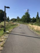 But what's nice is that the city has built a really nice, paved trail on an old railroad right of way.