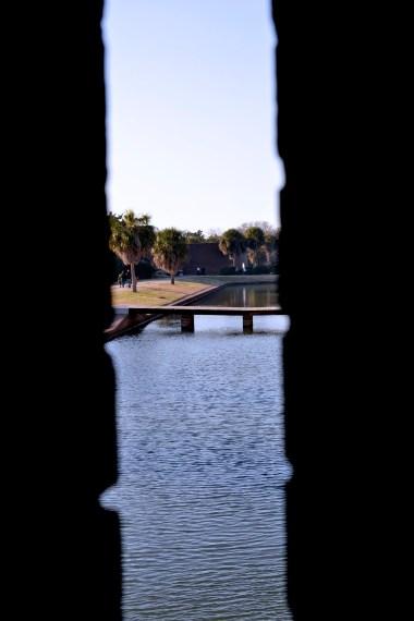 Moat around Fort Pulaski in Tybee Island, GA