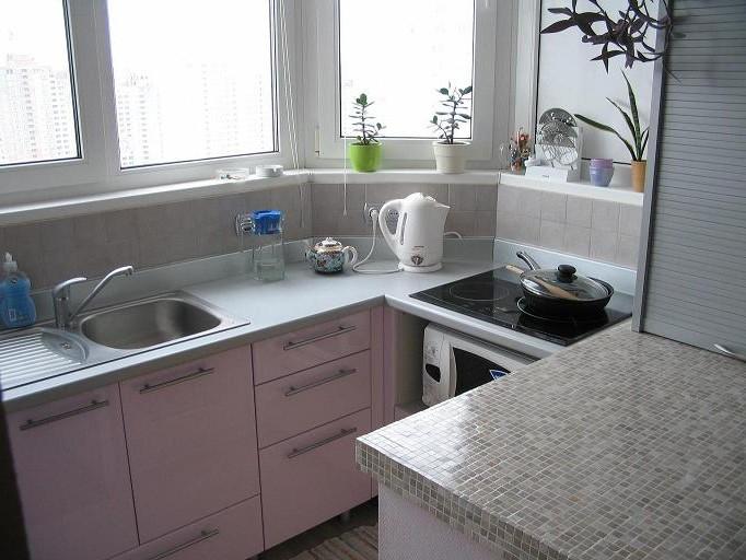 кухня на лоджии дизайн фото 3