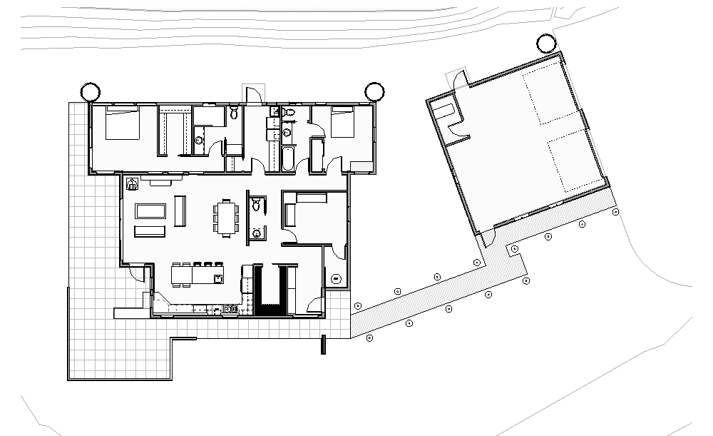 Lange - Floor Plan - Main Level Floor Plan Copy 1