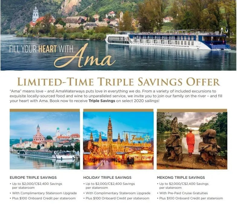Amawaterways Savings