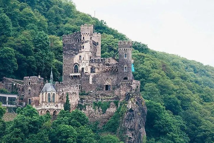 German castle on the Rhine