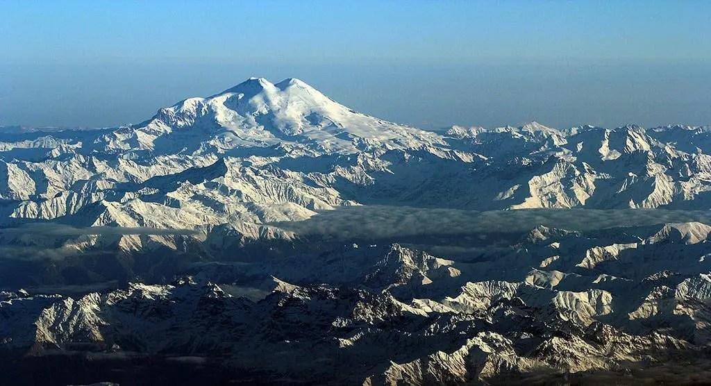 The Caucasus Mountains in Tbilisi, Georgia