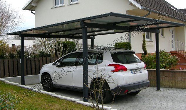 carport aluminium pour voiture. Black Bedroom Furniture Sets. Home Design Ideas