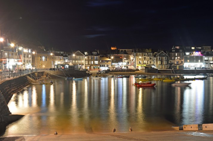 St Ives Harbour lights