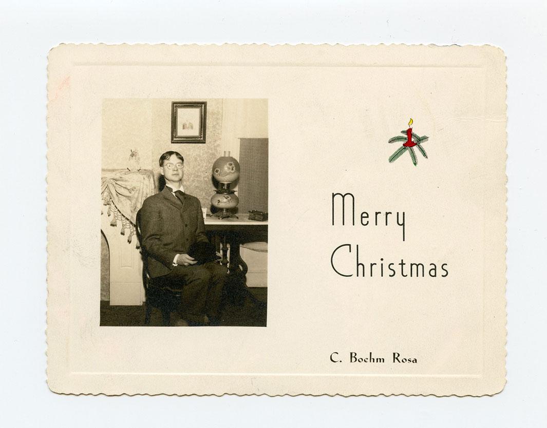 Merry Christmas card odd original
