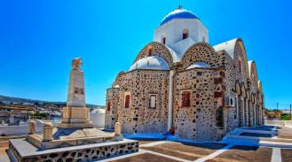 Church in Messaria, Santorini