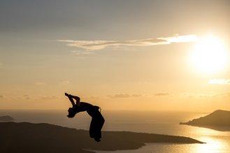 Yoann showing French style during a Greek sunset © Alex Grymanis