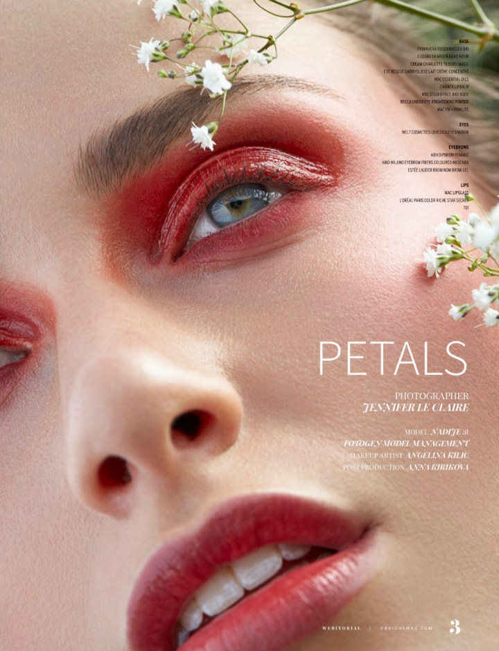Petals Obvious Magazine Jennifer Le Claire