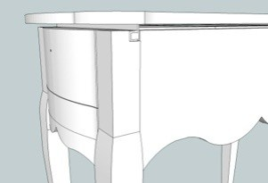 Rear view of the SketchUp model