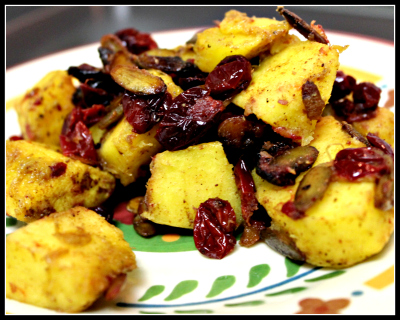 Warm Squash and Cranberry Salad by JL Fields on JL goes Vegan