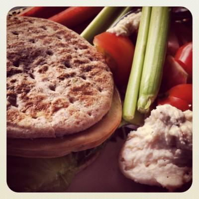 Tofurky and Collard Green Sandwich