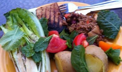 Wheat Berry and Red Bean Salad | Vegan BBQ | Cinnamon Tofu