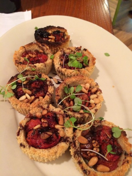 seeds community cafe | tomato tarts | vegan