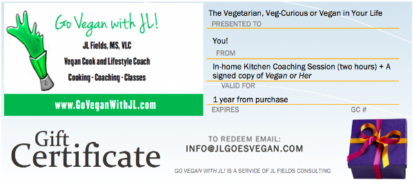 Vegan Kitchen Coaching with JL Fields