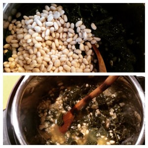 Navy Beans, Rice, and Greens | Vegan Pressure Cooking | JLgoesVegan.com