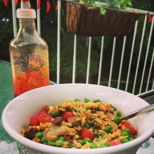 Beef-less fried rice