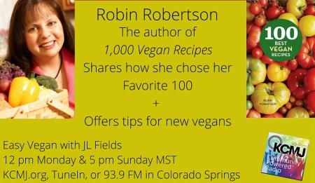 Robin Robertson on Easy Vegan with JL Fields | @jlgoesvegan