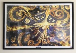 Exploding TARDIS poster