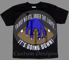 This was a sample piece, custom made for my portfolio for a local High School Football Team.