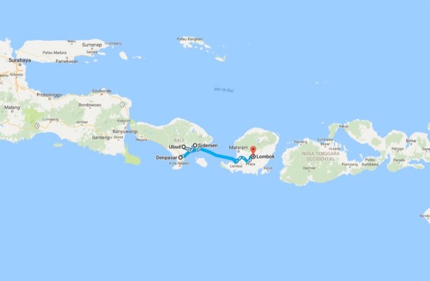 JLM Travel - Bali, slow travel - itinéraire