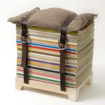 cool concept:  the magazine stool