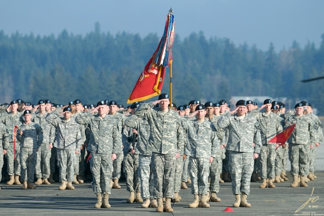 Solders at Attention