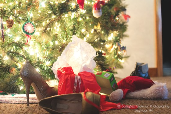 Christmas Boudoir at SassyBee Gamour Photography