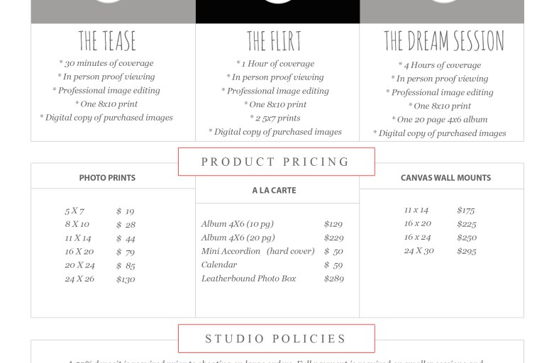 Downloadable Pricing Sheet