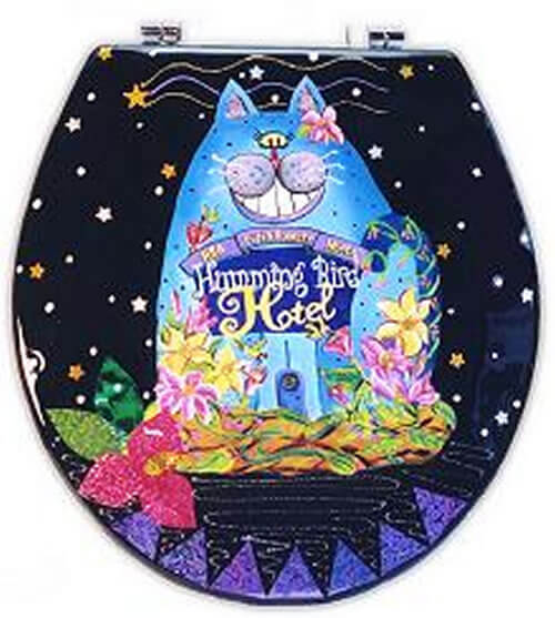 These seats are hand made with the finest materials possible for durability unmatched by others. Whether you're stuck on a gift idea or you would simply like to brighten up your bathroom with a one of a kind handcrafted toilet seat.. Start at $41.50