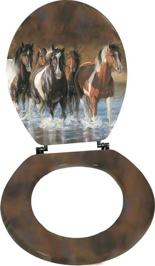 Stupendous Victoria Shultz Horse Standard Toilet Seat Gmtry Best Dining Table And Chair Ideas Images Gmtryco