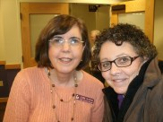 Me and my friend Jeanne, the Librarian and the photo bomber behind us!