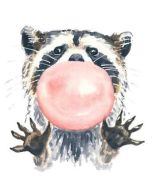 Racoon Art - Bubble Gum