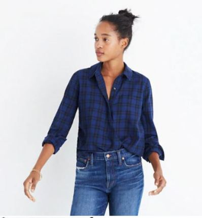 Madewell Wrap front arion plaid