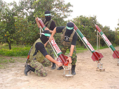 Hamas rockets on their way to Israel