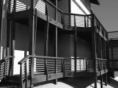 detailed perspective of balcony/deck aesthetics