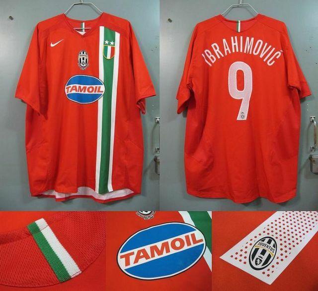 maglia juventus away rossa 2005-2006