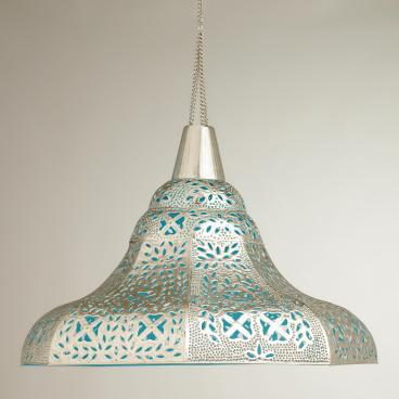 World Market- Oversized Punched Metal Pendant Lamp