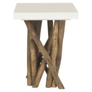Safavieh Hartwick Side Table in White, $207.99 (save 20%)