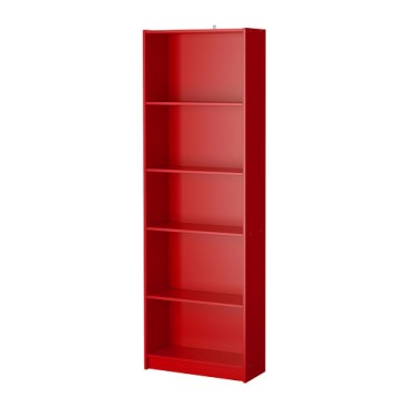 FINNBY Bookcase, red, $29.99, Article Number: 502.611.32