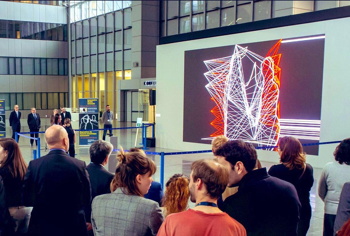 Opening of NATO Headquarters Media Art Exhibition (João Martinho