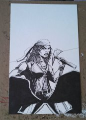 Little Queen's Gambit ink cover