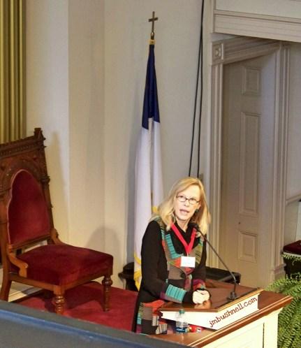 Anita Shreve speaking at the Savannah Book Festival 2014
