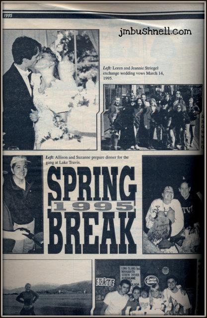 Spring Break 1995 Jeannie is Married