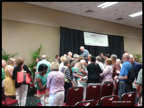 Pat Conroy and family are loved by the audience at the South Carolina Book Festival