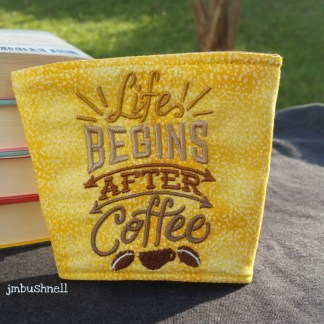 Life Begins After Coffee Cozy