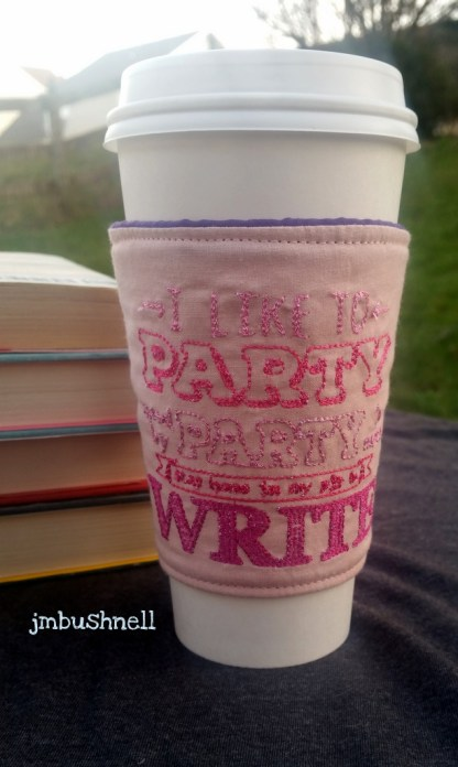 party in pj and write cozy to go