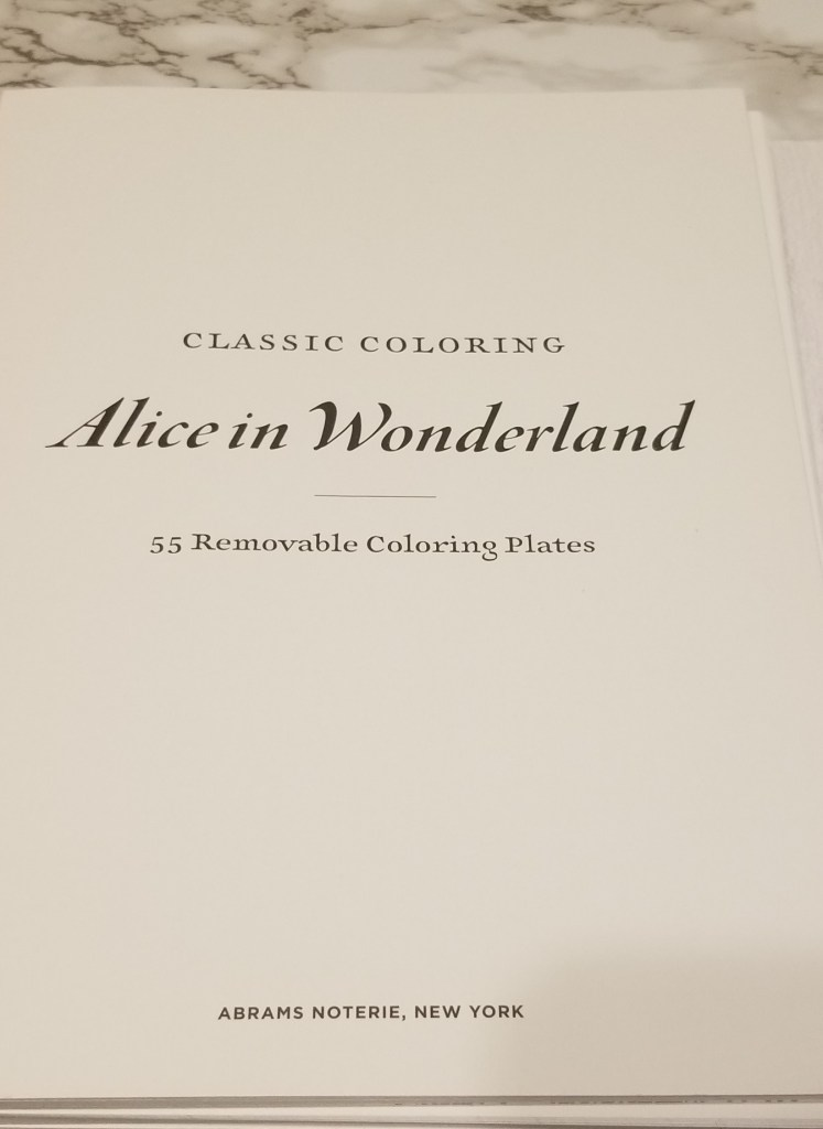 Classic Coloring Alice in Wonderland Coloring Book