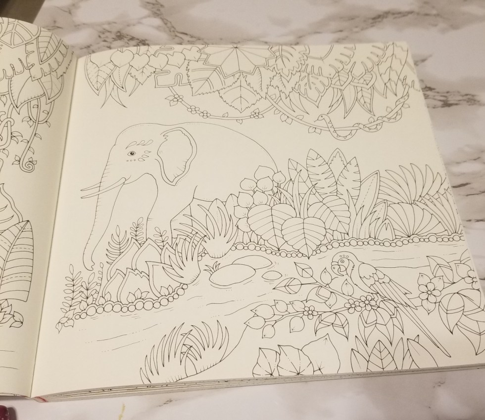 Elephant in the jungle to color.