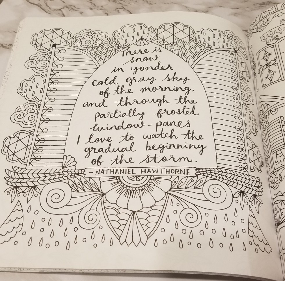 Nathaniel Hawthorne quotation.